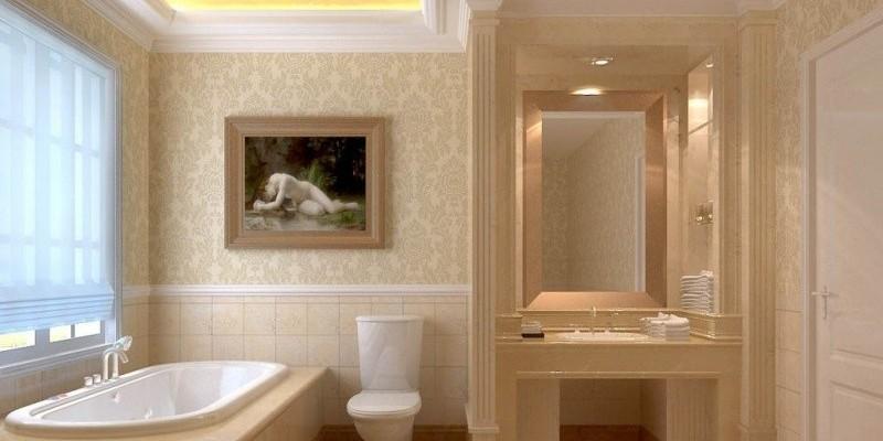Ванная комната в греческом стиле, отлично подходит для спокойного отдыха