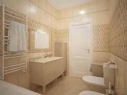 Бежевая расцветка ванной комнаты создает комфортное ощущение. Интерьер смотрится лаконично