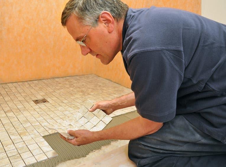 Мозаичная плитка на сетке