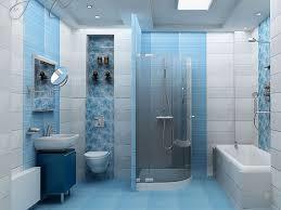 Красивое голубое спокойное оформление ванной комнаты. Стильно и свежо