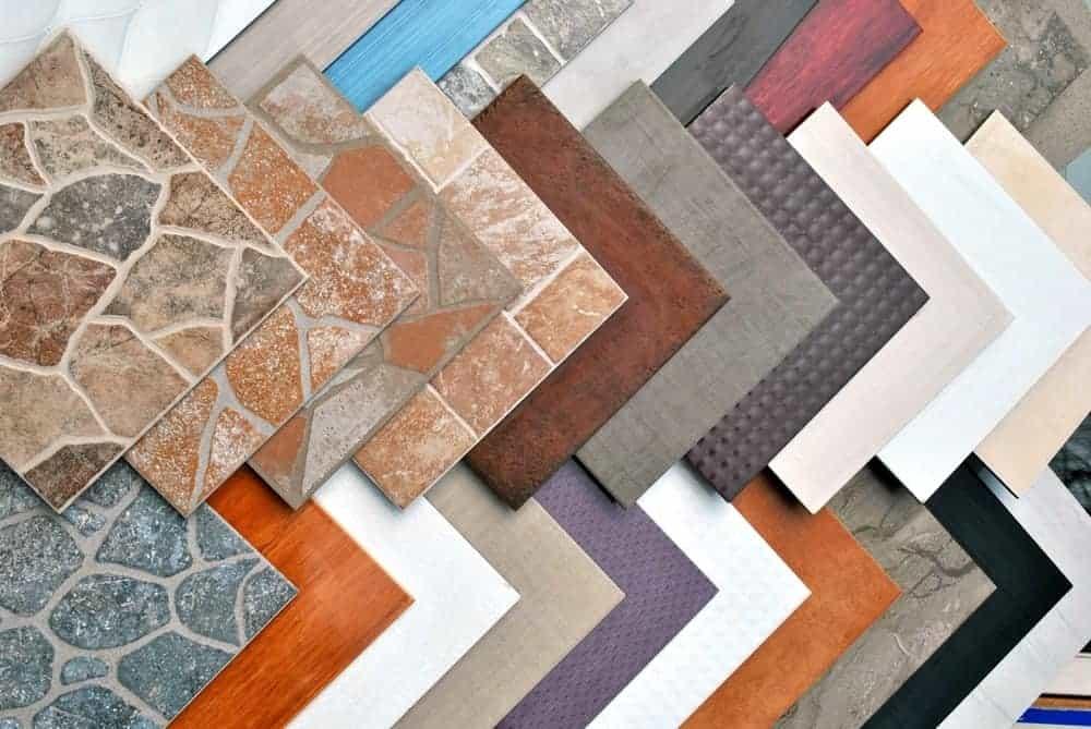 Различные виды плитки