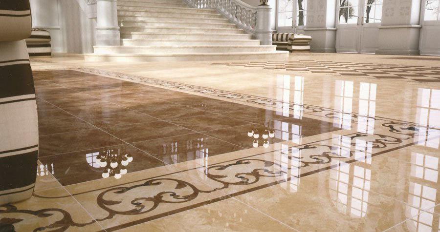 Благодаря глянцевой поверхности керамогранит смотрится дорого и изящно, он отлично подходит для аристократически оформленных помещений