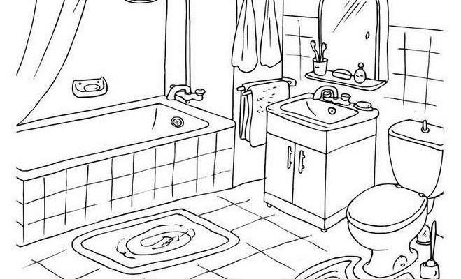 Примерный чертеж ванной комнаты.