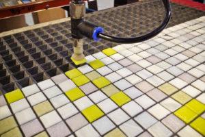 Процесс производства мозаичной плитки