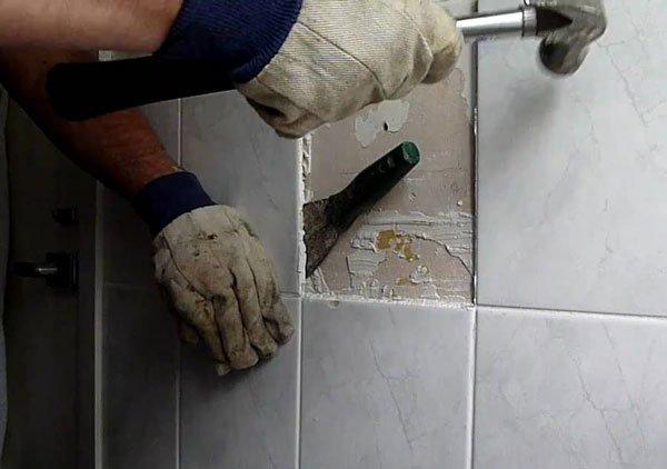 Удаление плитки своими руками