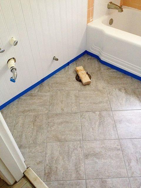 Красивый пол в ванной