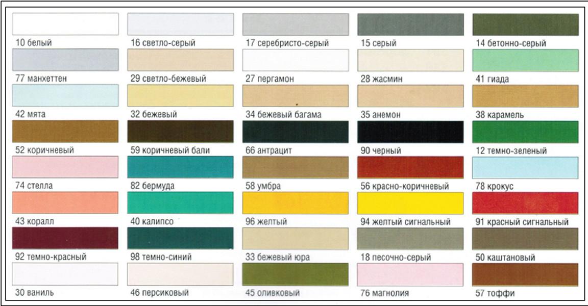 цвета плитки
