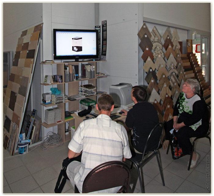 При выборе фуги в магазине, вам могут предложить посмотреть компьютерный проект. На нем очень удобно подбирать фугу, так как можно посмотреть много вариантов и сравнить их.