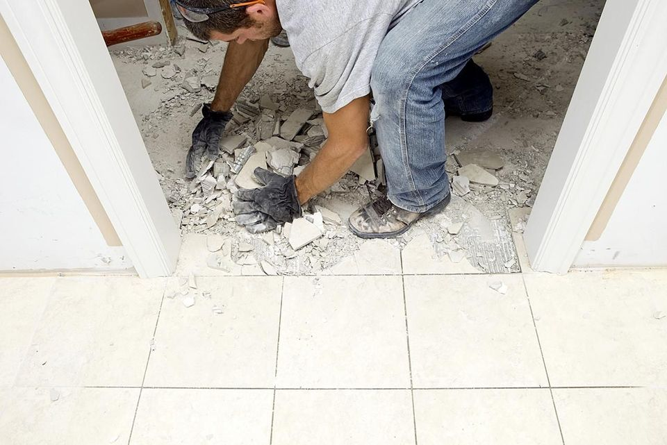 Tile flooring removal