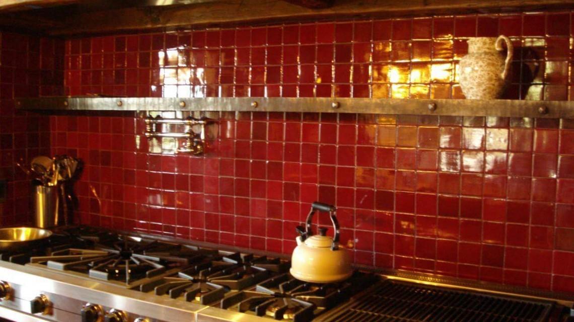 дизайн красной плитки