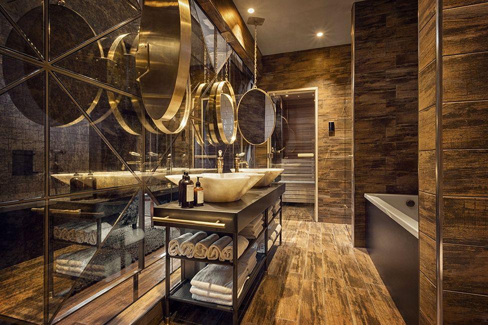 Дизайн ванной комнаты в ресторане