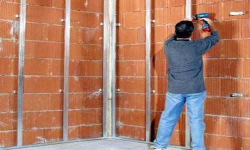 Выравнивание стен. Подготовка каркаса из гипсокартона