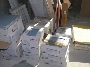 На коробках с плиткой как правило нанесена вся полезная информация