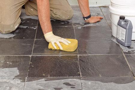 Каменная плитка уборка