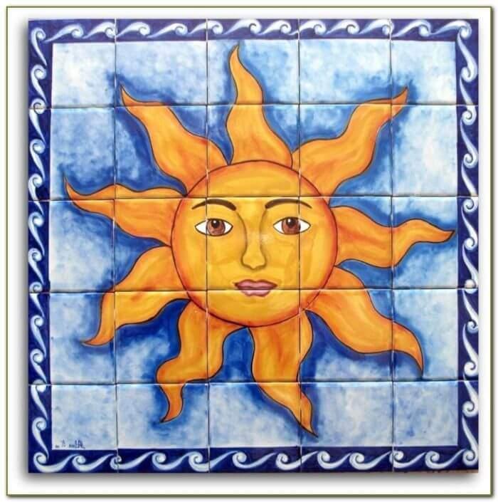 Керамическая плитка с солнышком