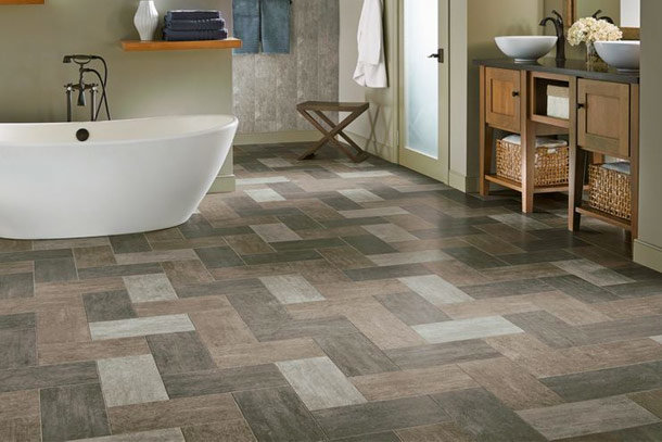 Mopping ceramic tile floors