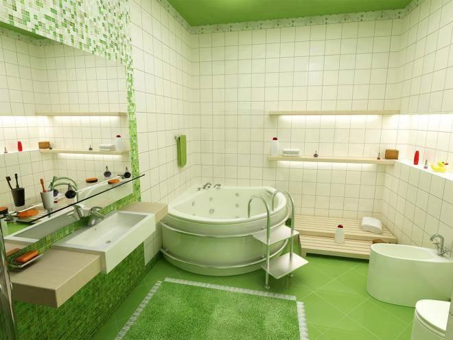 красивая зеленая плитка