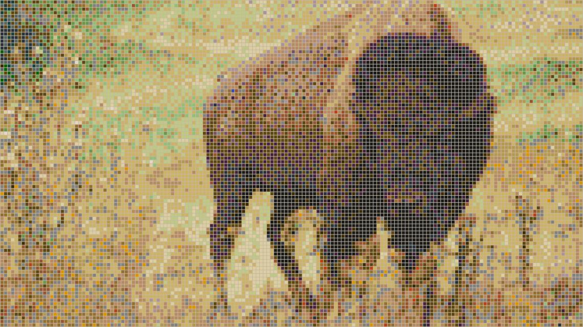 зубр на мозаичной плитке
