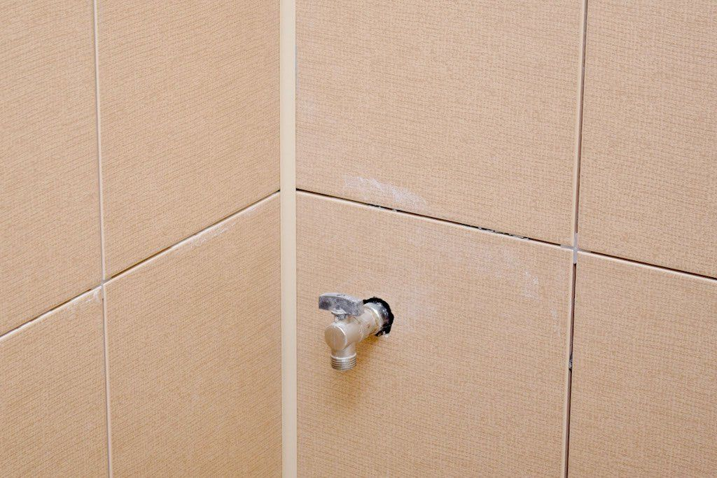 Installing ceramic tile shower