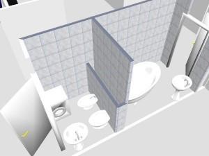 Проект ванной и туалета в программе Adobe Photoshop