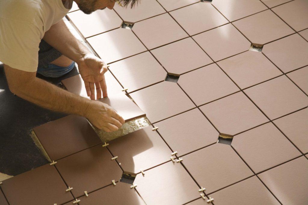 Противоскользящая керамическая антимикробная красивая плитка