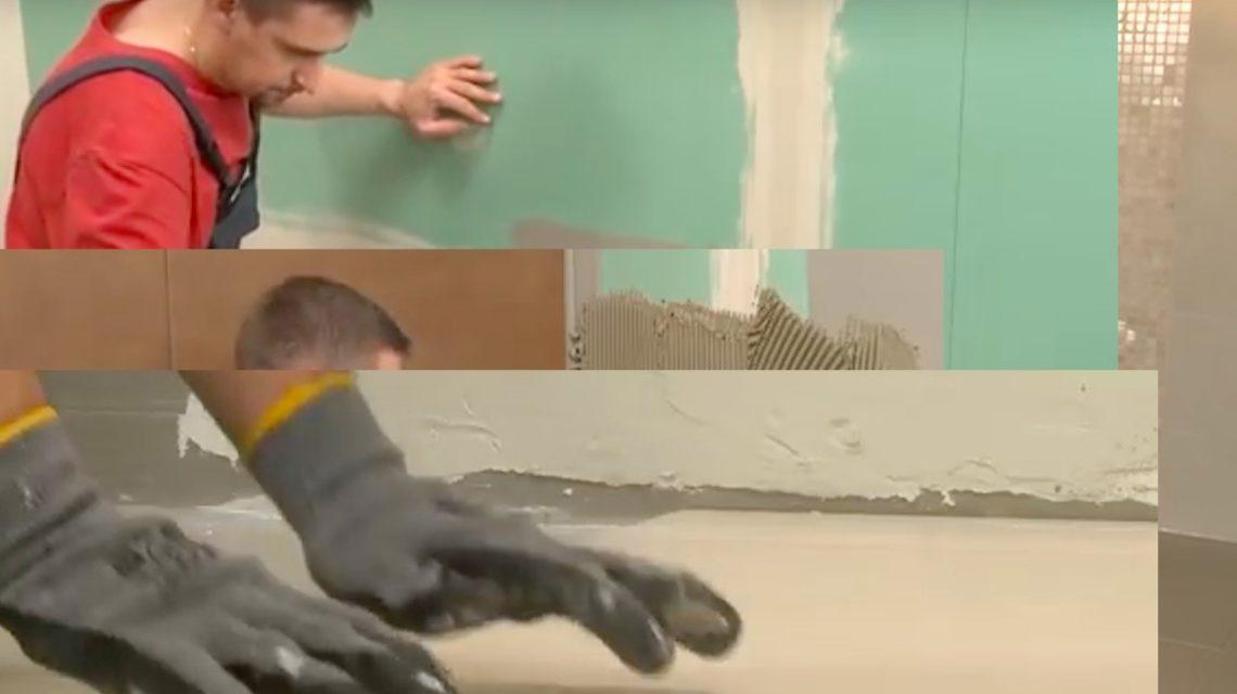 Вдавливайте волнообразными плавными движениями по всей поверхности плитки.