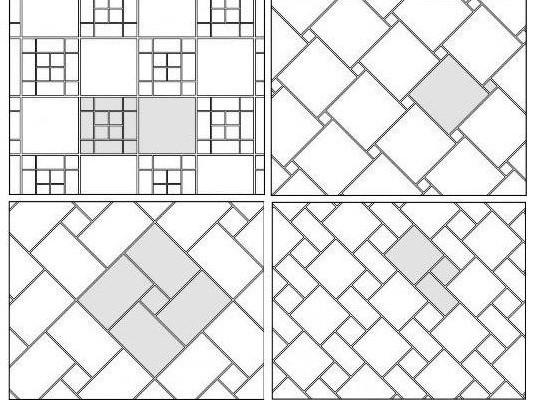Глядя на различные способы укладки мы видим насколько плитка может разниться в размерах