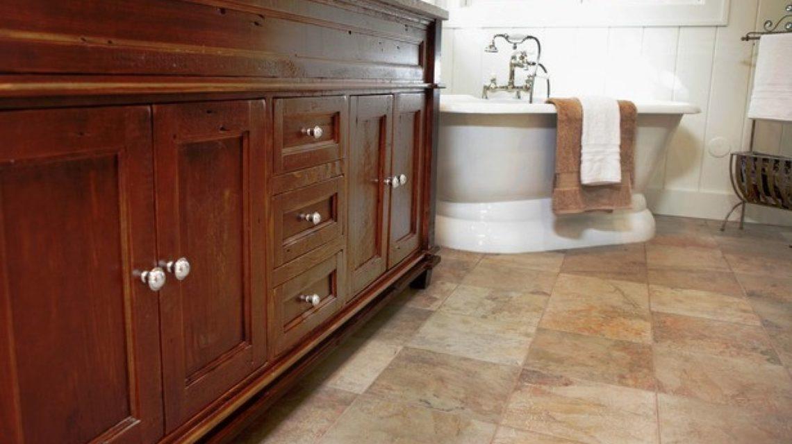 стильная напольная плитка из натурального камня