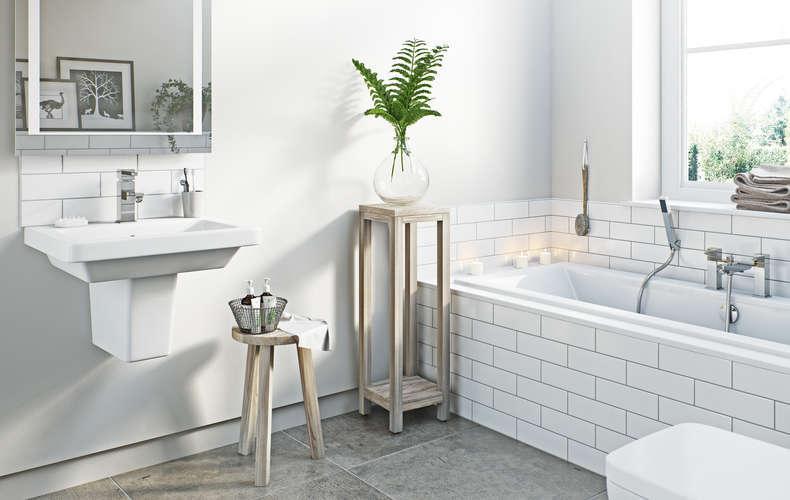 Стильная оригинальная модная ванная