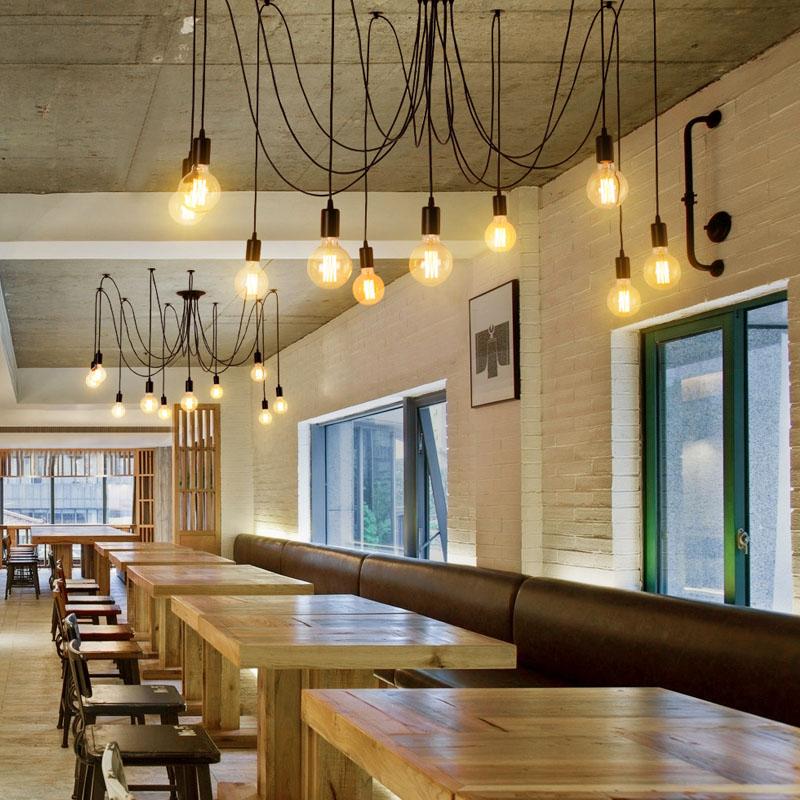 Светильники в ресторане