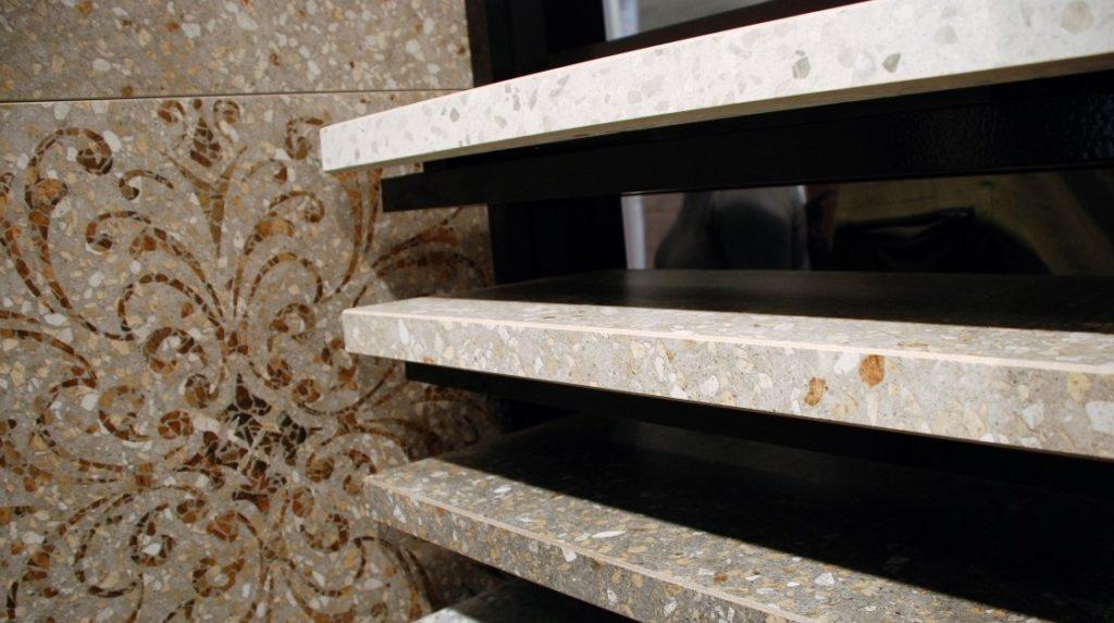 Угловая плитка терраццо