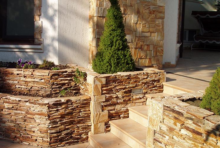 уличные ступени из натуральных камней