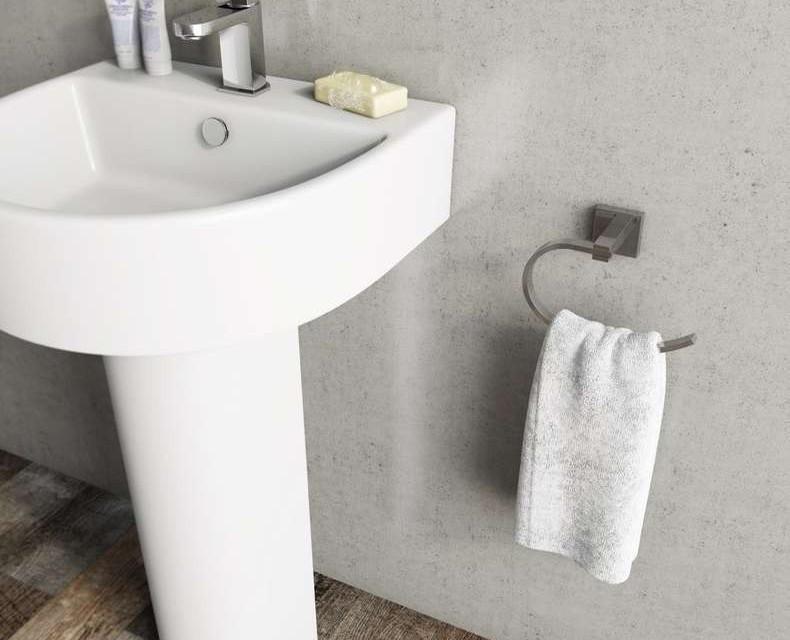 Умывальник и держатель для полотенца